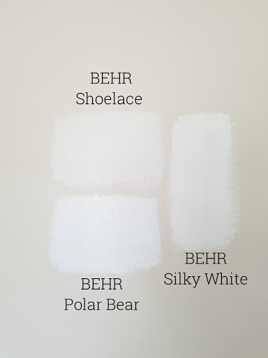 comparison swatches of white paint google search in 2020 on behr paint comparison chart id=55228