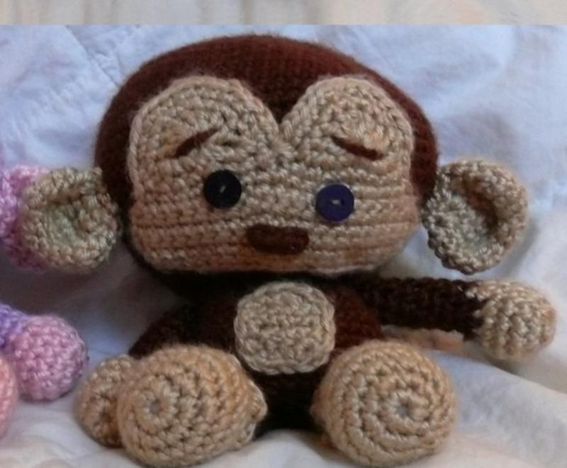 free crochet patterns to print | Sweet Monkey Crochet Pattern PDF by voodoomaggie on Zibbet