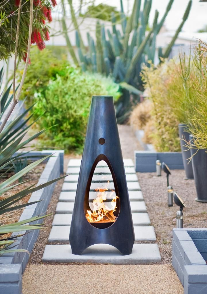 Attractive ModFire Urban Campfire | Wood Burning Firepit For The Modern Backyard. Steel.  ( Design Ideas