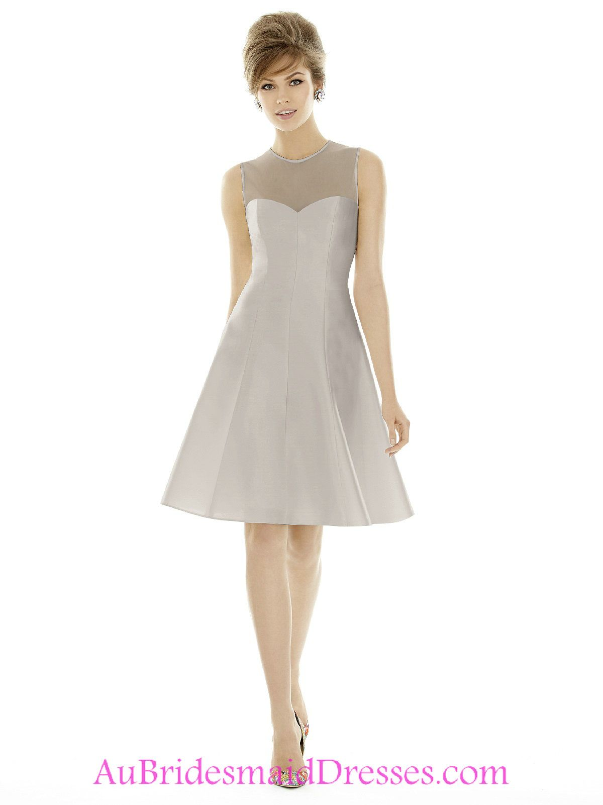 Online buy wholesale lace silver short bridesmaid dress from china