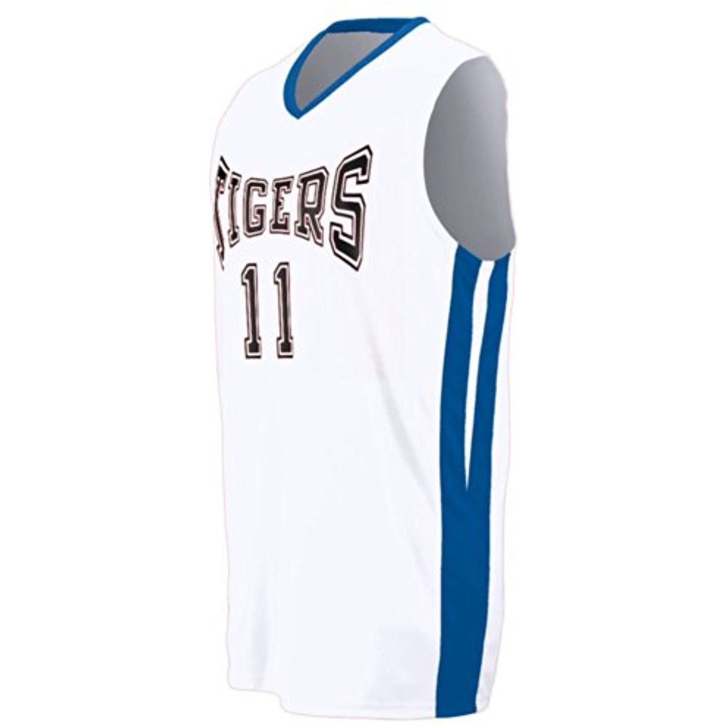 Youth Triple Double Game Jersey White And Royal Small Click On The Image For Additional Details This Is An Affili Jersey Volleyball Outfits Double Game
