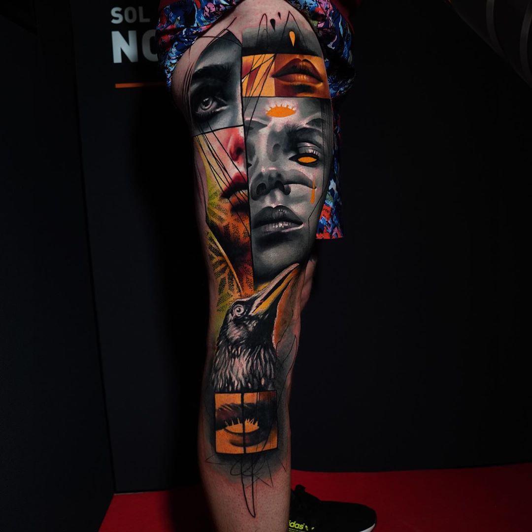 Womans Portrait Mashup Artist Harristattooart Waler Montero Country Uk De In 2020 Black And Grey Tattoos Full Body Tattoo Tattoos