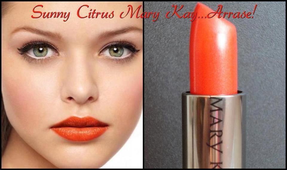 MK Creme Lipstick in Sunny Citrus http://www.marykay.com/hgjoen