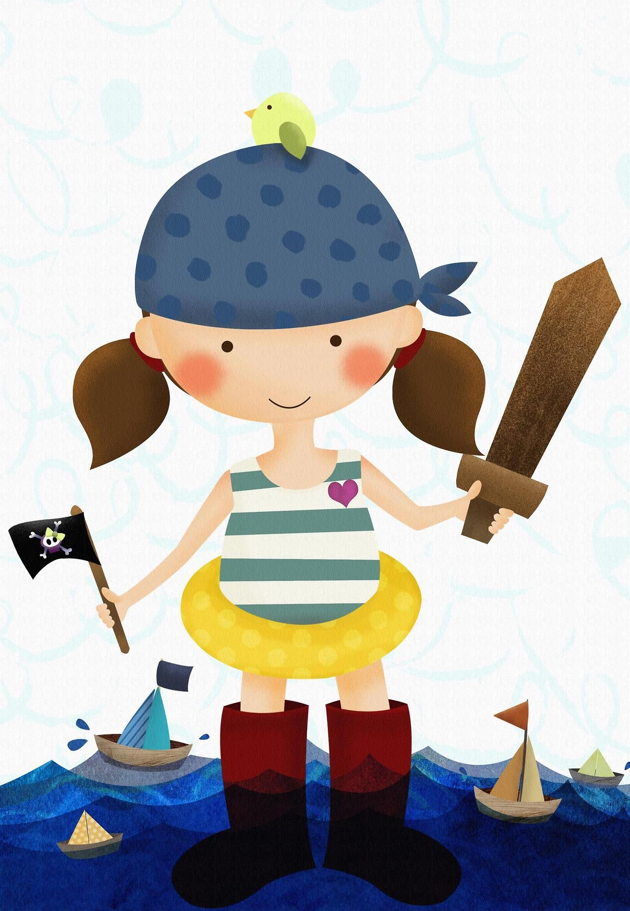 Pirate play date by Mabel Garcia