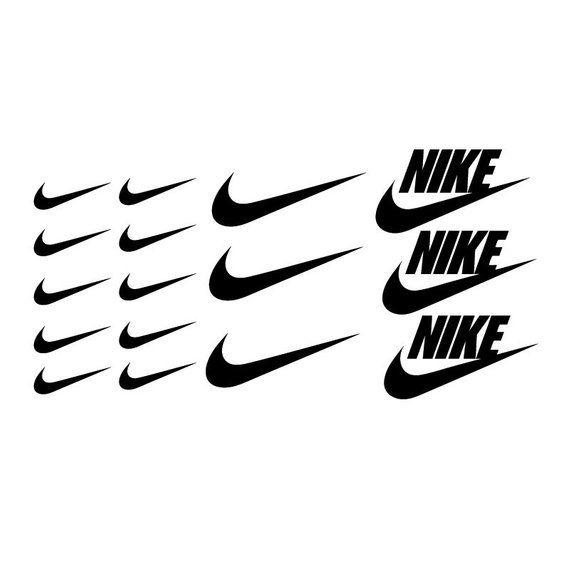16 Pcs Nike Swoosh Logo Apple Macbook Laptop Vinyl Sticker
