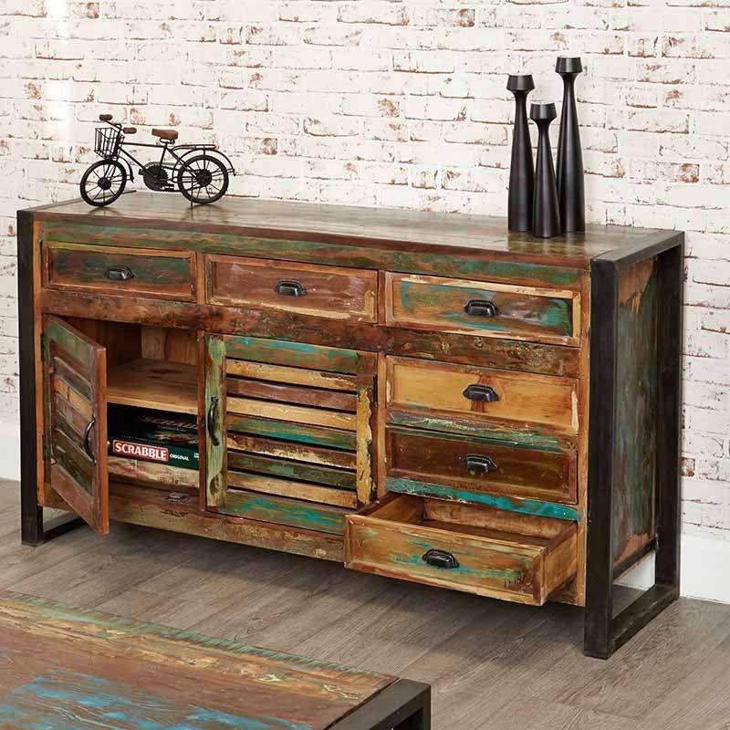 Urban Chic Reclaimed Wood Large Sideboard Range