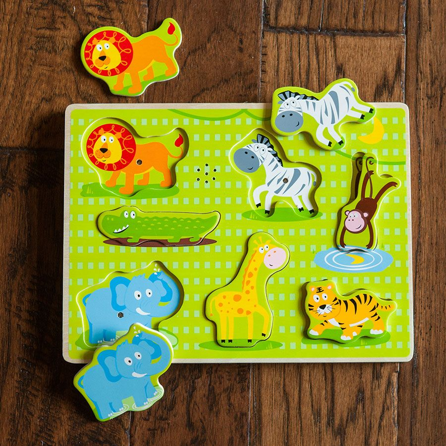 Safari Animal Sound Puzzle - Best Early Learning Toys for ...