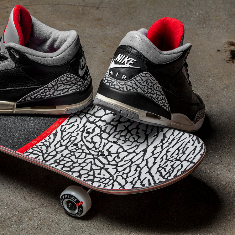 pretty nice 8bdd8 fb90e 50% off check out this dope air jordan 3 black cement inspired skateboard  b1c09 7665f