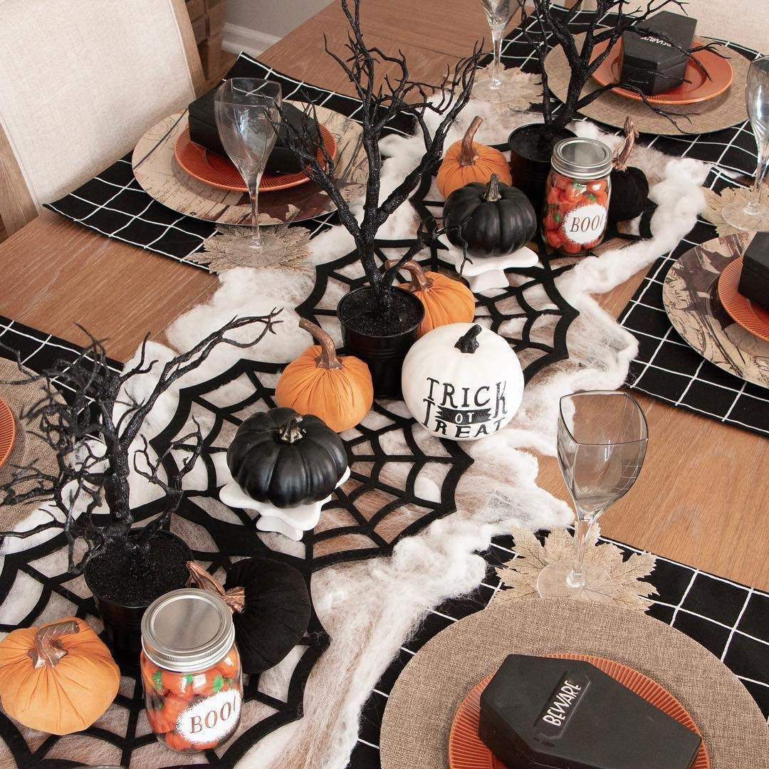 Boo Tiful Halloween Table Decoration Ideas And Inspirations For Halloween 2019 Halloween Tablescape Halloween Table Centerpieces Halloween Table Decorations