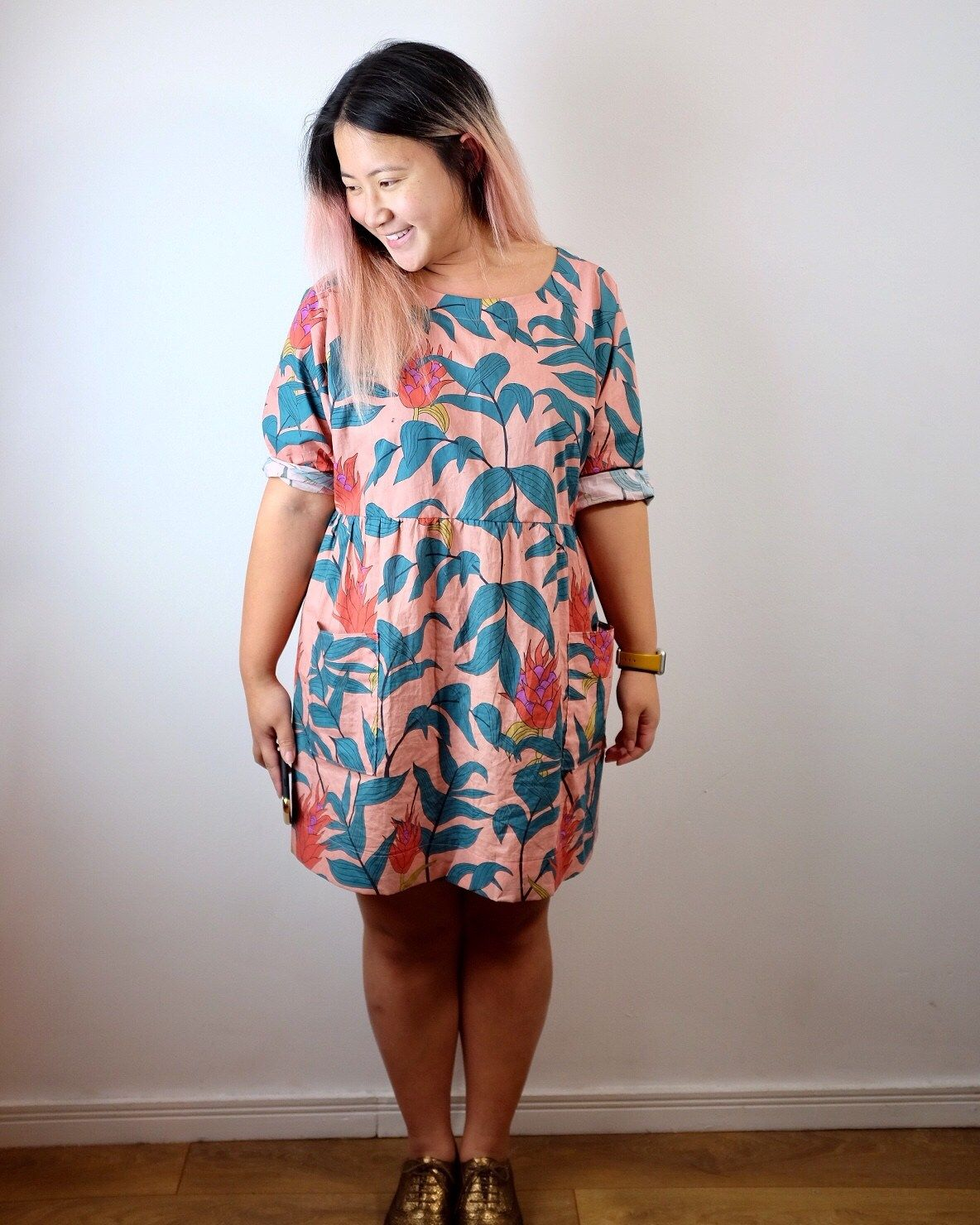 b29af3dbe0 I AM Cassiopée dress review in Lady McElroy tropical stems cotton lawn -  Self Assembly Required