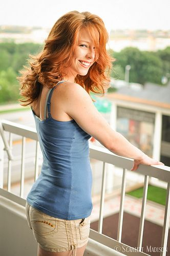 Mature redhead with nice body