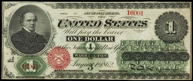 How Much Is A 1862 1 Bill Worth Currency