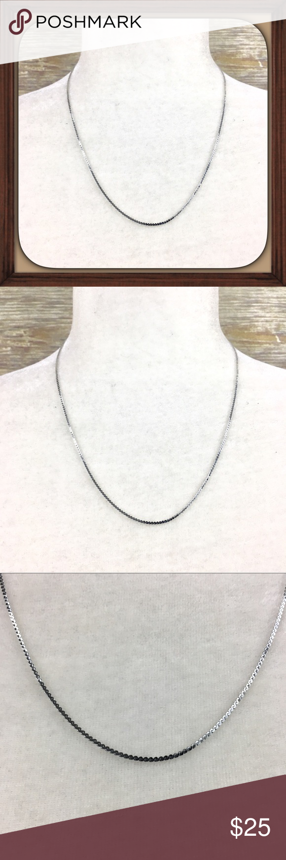 Silver Delight 18kgp Ma Stamped Chain Necklace Silver Delight 18kgp Chain Necklace In Excellent Condition 20 Inch Chain Chain Necklace Necklace Fashion Tips