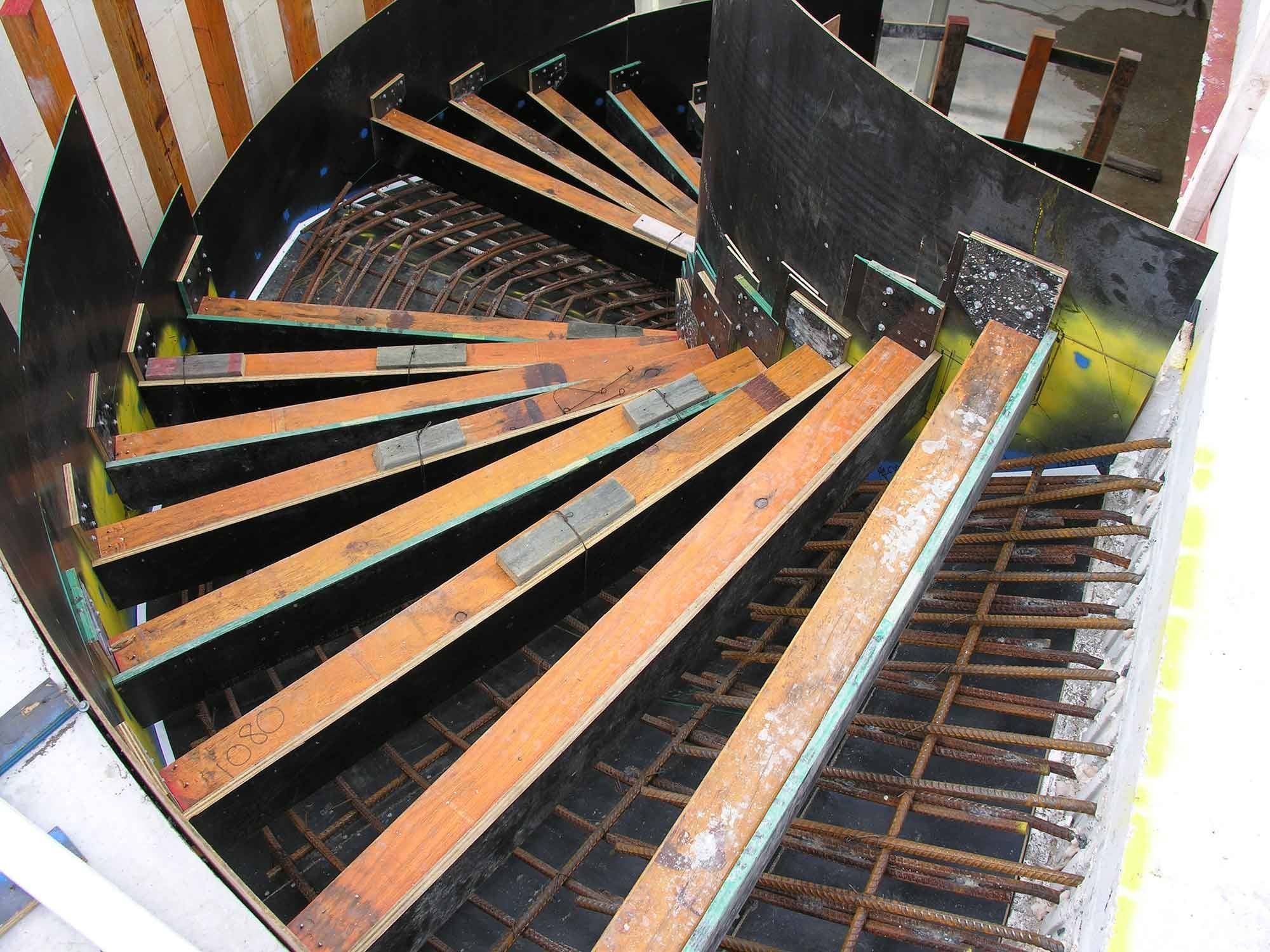 Best Various Type Of Formwork For Curved Concrete Stairs 640 x 480