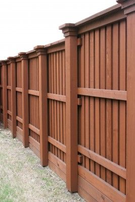 Staining A Wood Fence Fence Planning Wood Fence Fence Contractor