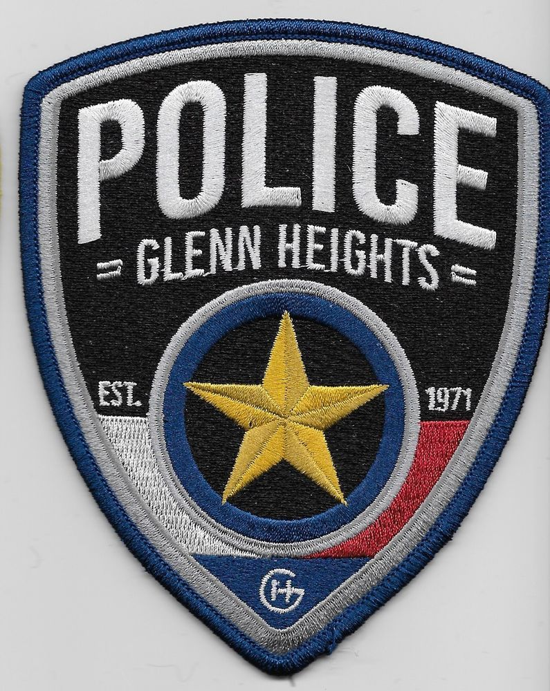 Glenn Hgts Police State Texas TX patch NEW Police, Texas