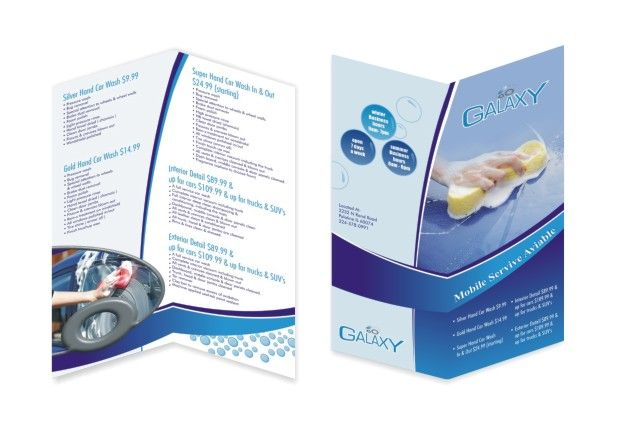 Bi Fold  Panel  Cleaning Service Brochure  Brochure Design