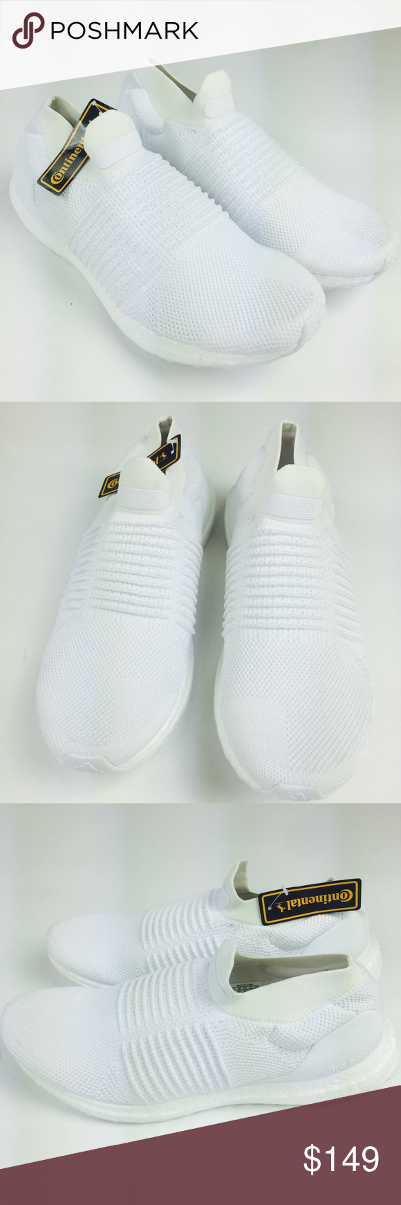 Adidas Ultra Boost Laceless White Shoes