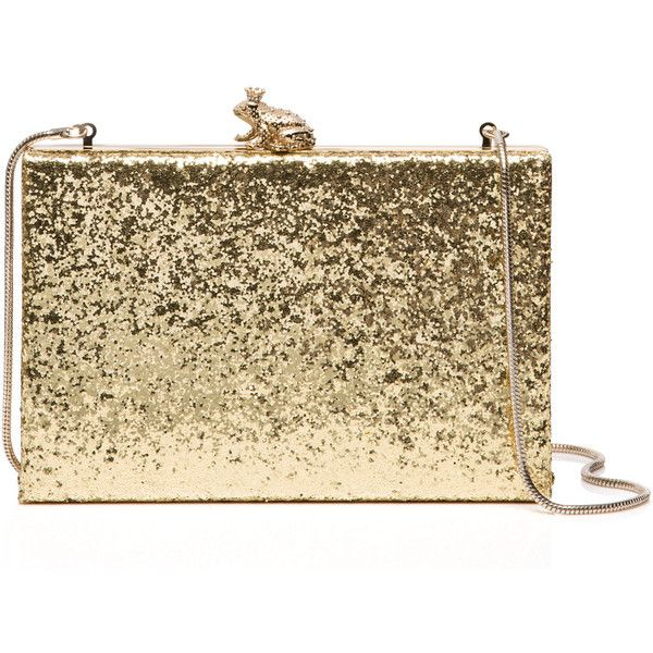 Kate Spade Wedding Belles I Kissed A Frog Emanuelle ($328) ❤ liked on Polyvore featuring bags, handbags, clutches, kate spade handbag, brown purse, kate spade clutches, kate spade and brown handbags