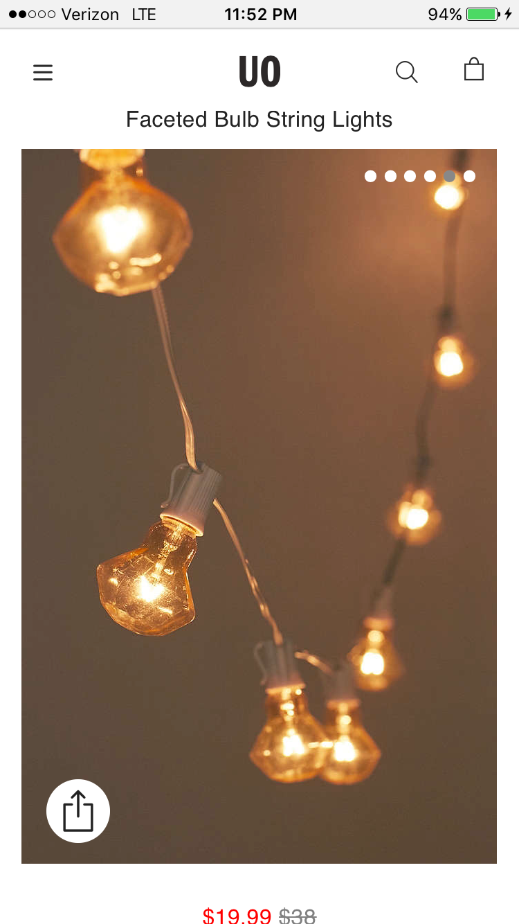 Shop Faceted Bulb String Lights At Urban Outfitters Today.