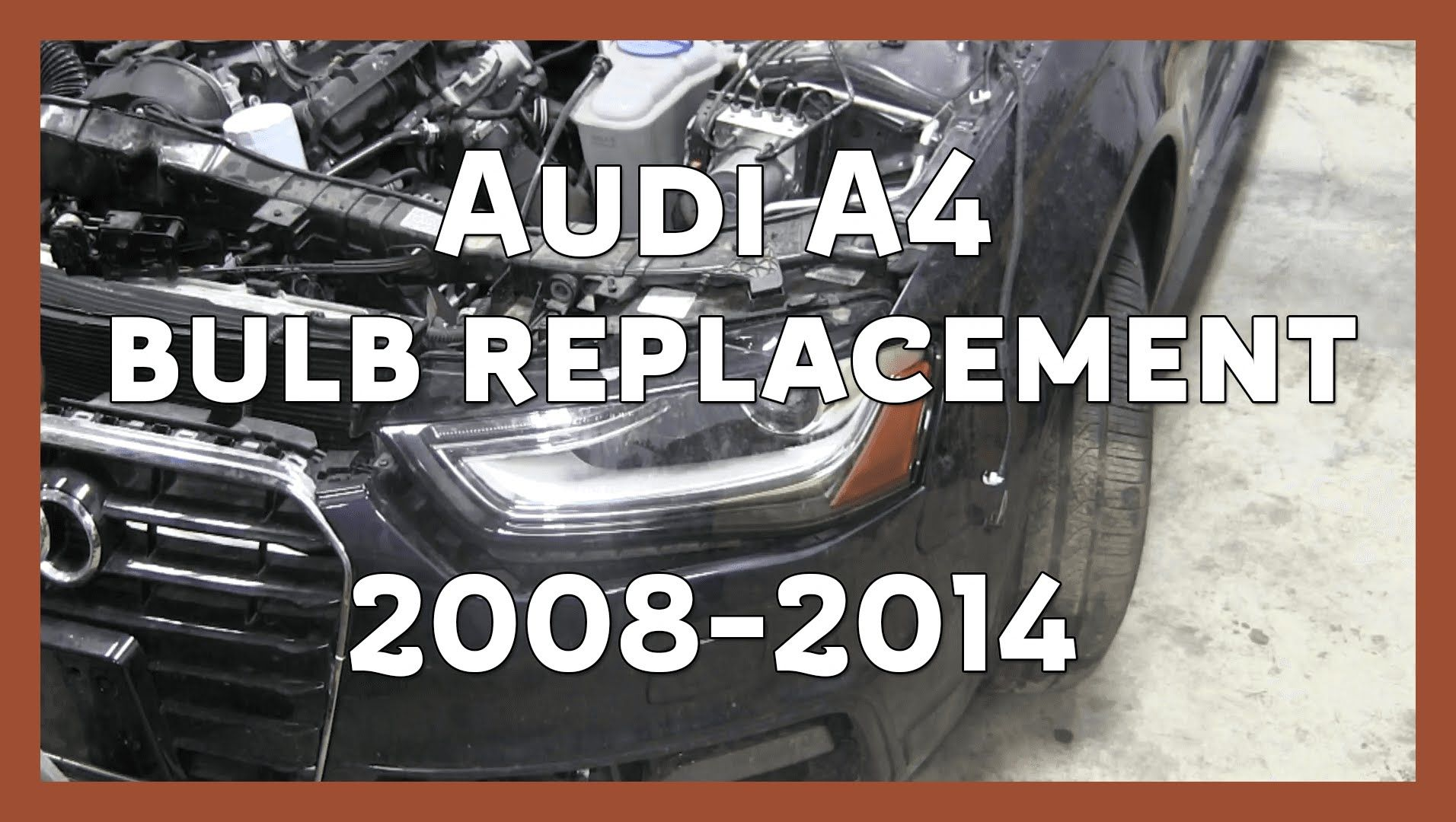 Audi A4 Headlight Bulb Replacement 2008 2014 B8 B8 5 Headlight Bulb Replacement Audi A4 Headlight Bulbs
