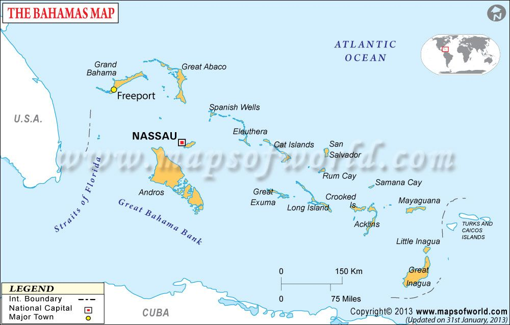 Bahamas Map Maps Pinterest Archipelago Location Map And - Major cities map of cuba