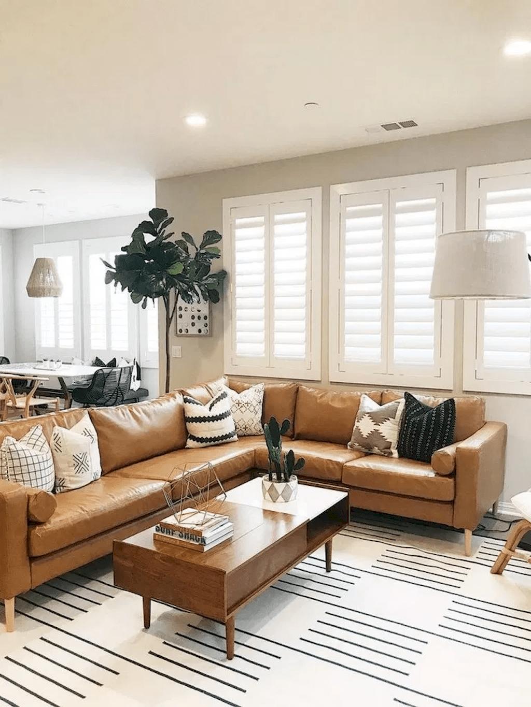30 Awesome Leather Sofa Design Ideas Pimphomee Leather Sofa Living Room Leather Couches Living Room Living Room Colors