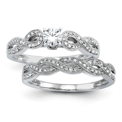14k Wg Infinity Symbol Engagement Ring Available At Jenkins Jewelers Midland M Engagement Rings Bridal Engagement Rings Semi Mount Engagement Rings