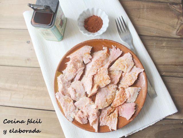 cocina facil y elaborada: LACON A LA GALLEGA, con receta y MICROONDAS