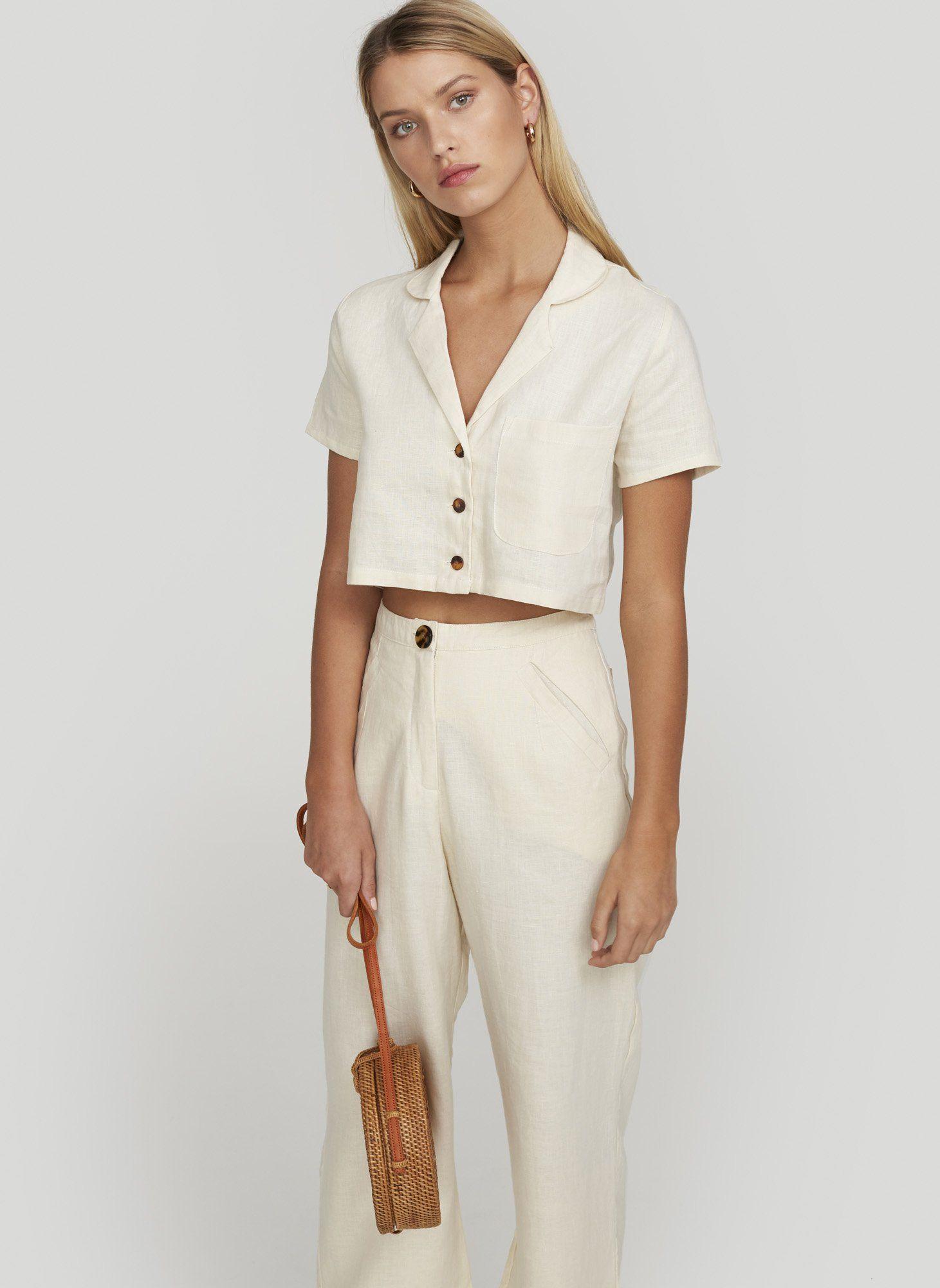 d3c25c8f93 Plain cream - uma shirt in 2019   Style   Shirts, Faithfull the ...