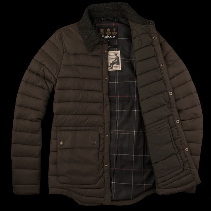 Unionmade Barbour Rowe Quilt Jacket In Olive Apparel