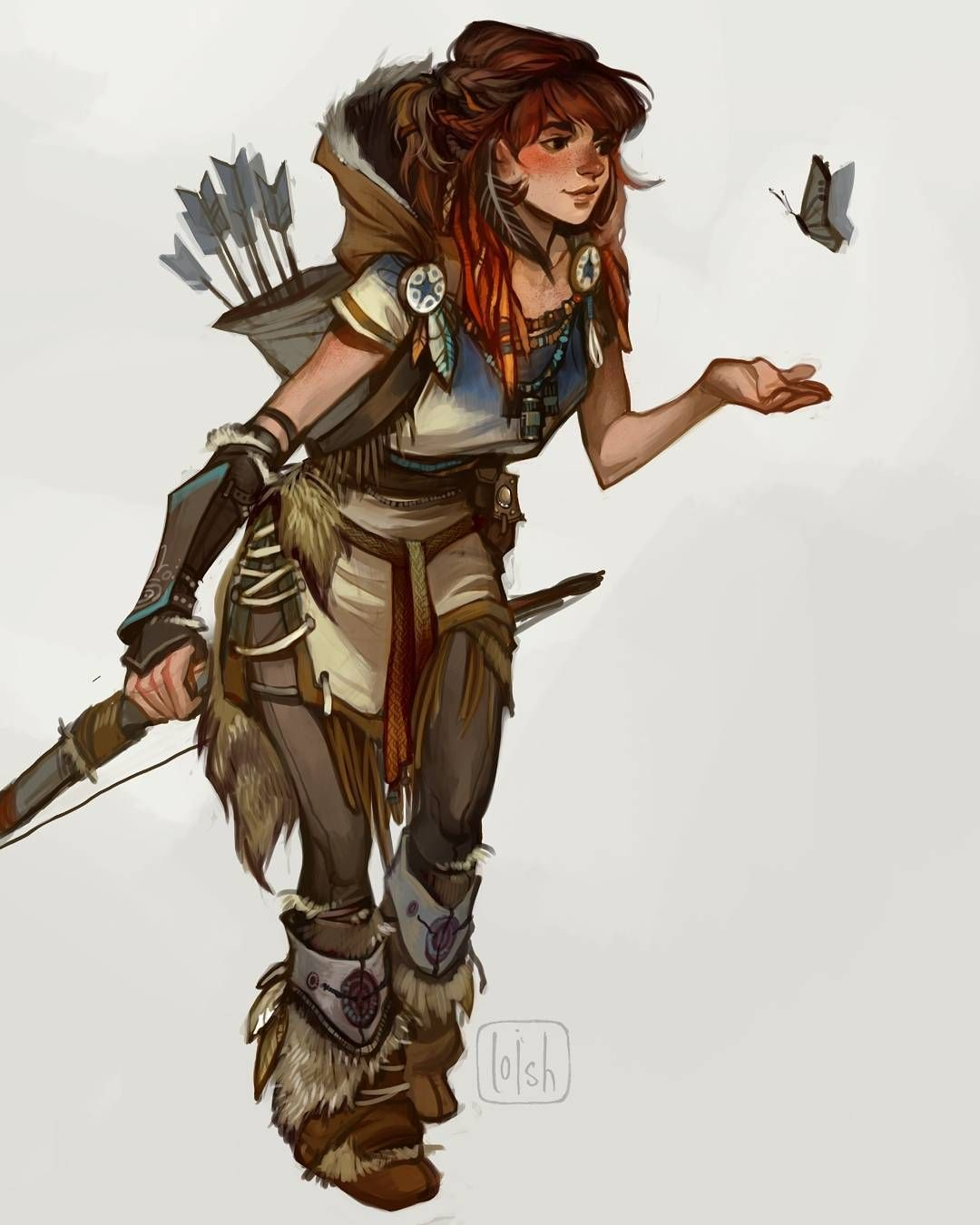 More Concept Art Of Aloy The Lead Character From Horizon Zero Dawn I Worked On Her D Dungeons And Dragons Characters Character Inspiration Character Design