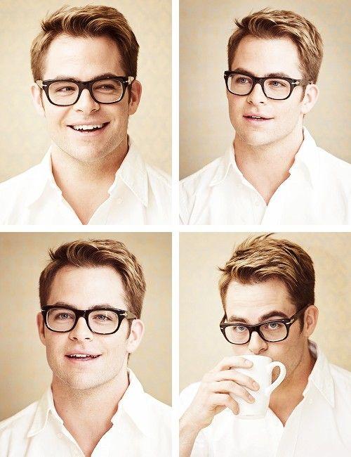 Chris Pine, he's cute even when he's trying to be nerdy <3