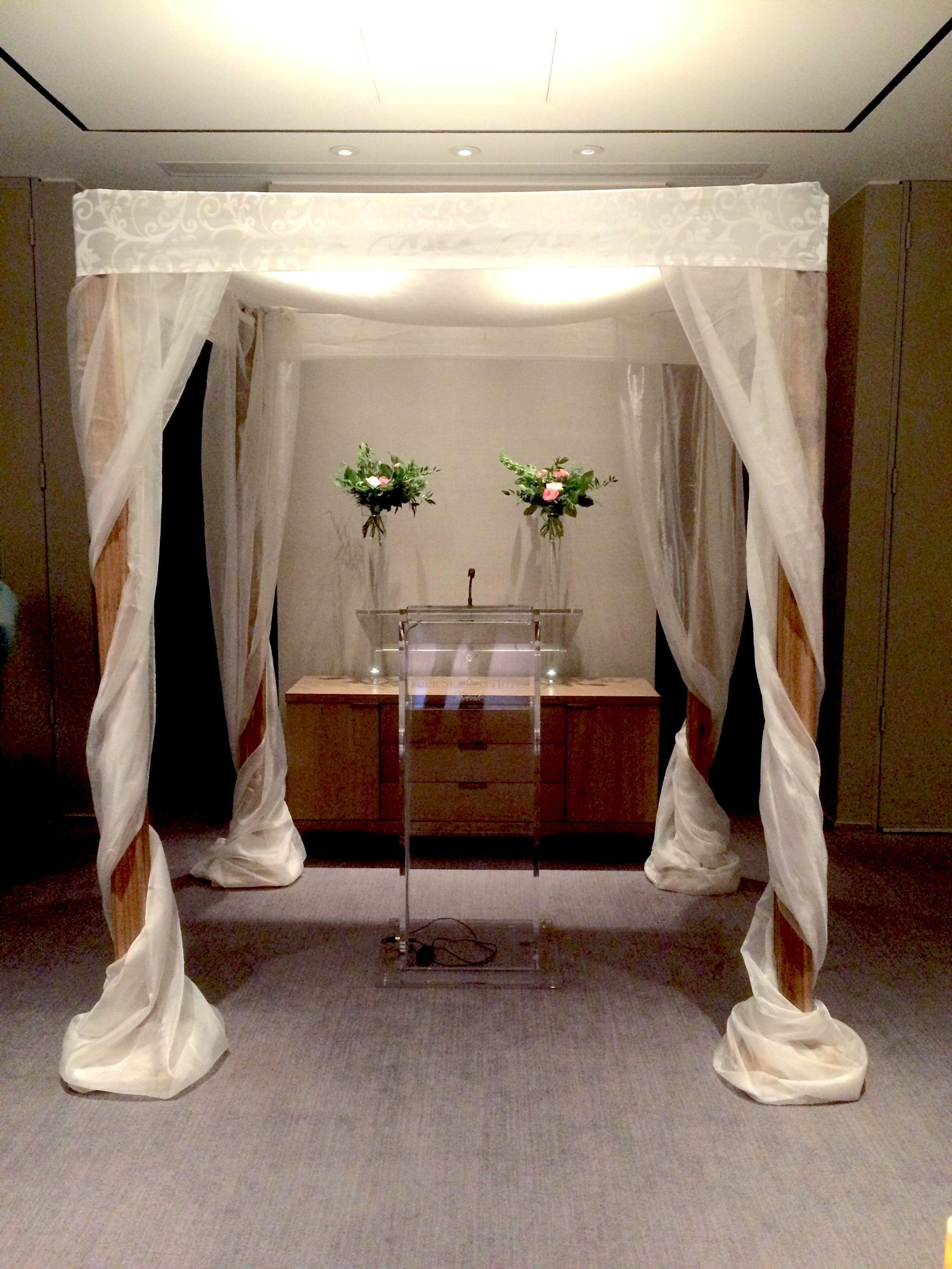Cedar with Organza and Satin by www.chuppah.ca at The Four Seasons Hotel wedding venue