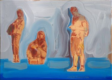 "Saatchi Online Artist Janusz Gałuszka; Painting, ""expectancy"" #art"