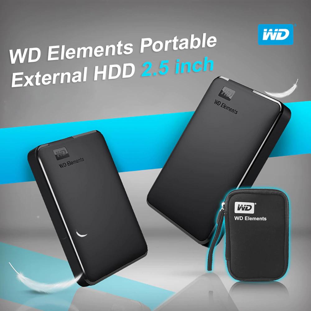 Western Digital Wd Elements Portable Hdd External Hdd 1tb 2tb Hdd 2 5 Harddisk Harddiskeksternal Portable External Hard Drive External Hard Drive Hdd