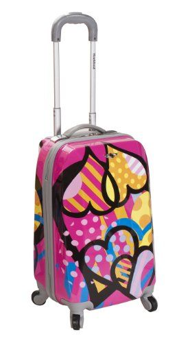 6ab309b41 Rockland Luggage 20 Inch Polycarbonate Carry On Luggage, Love, One Size  Rockland http: