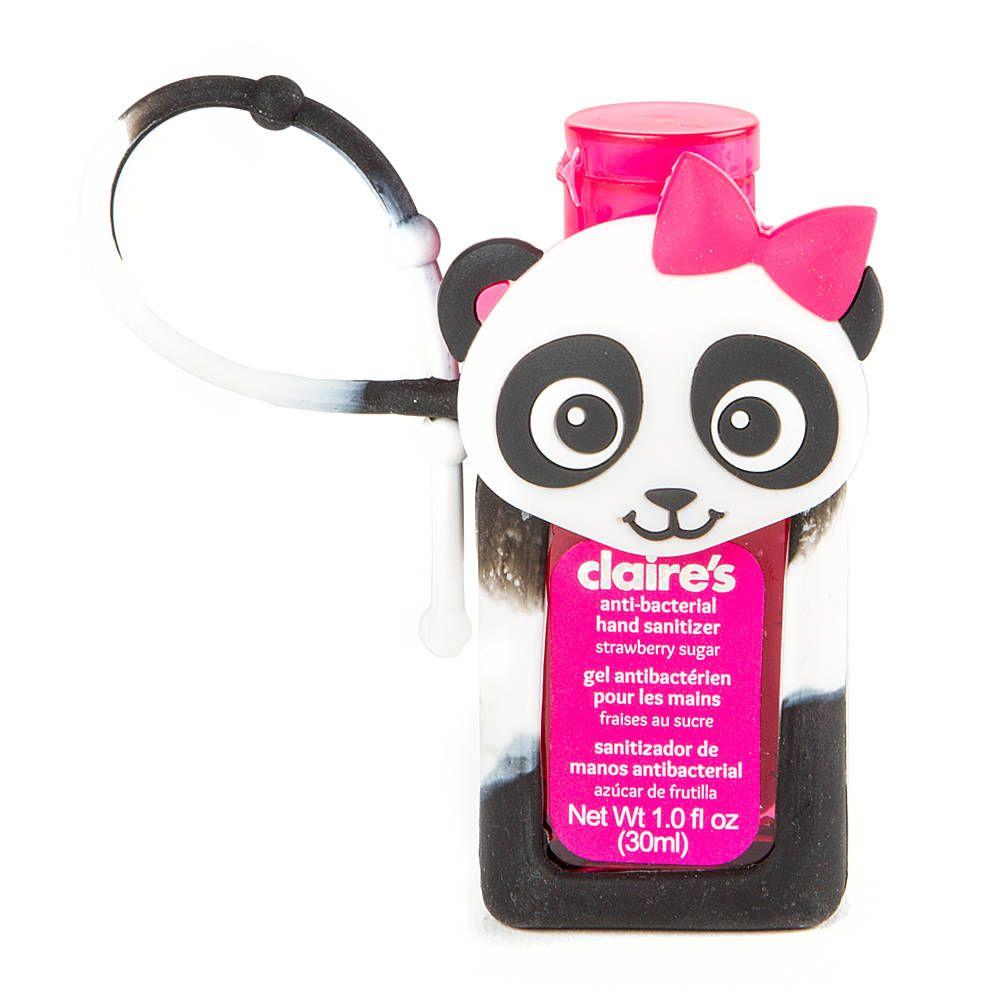 Panda Holder With Strawberry Sugar Anti Bacterial Hand Sanitizer