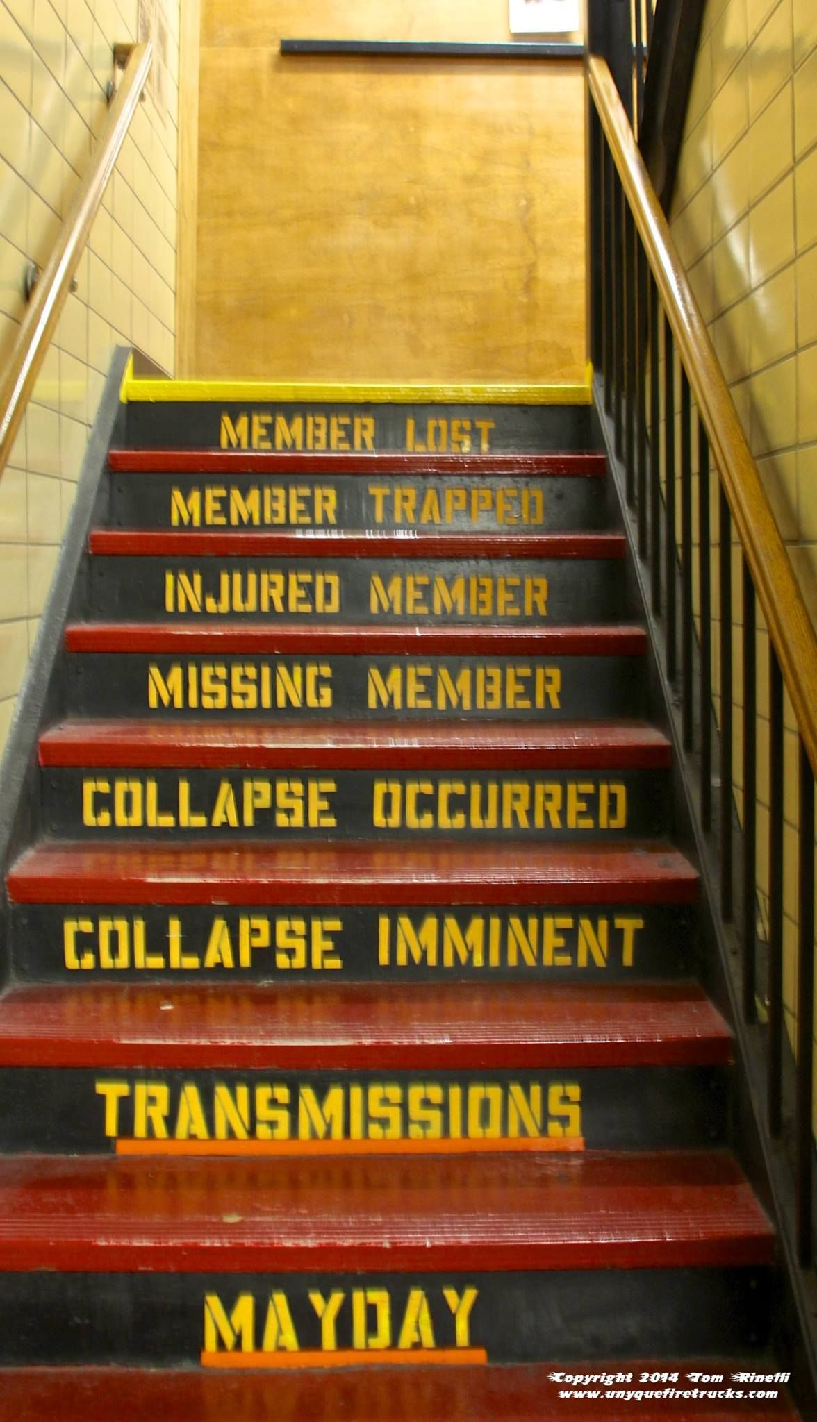 Fdny E 262 S Stairs This One Leads From The First Floor