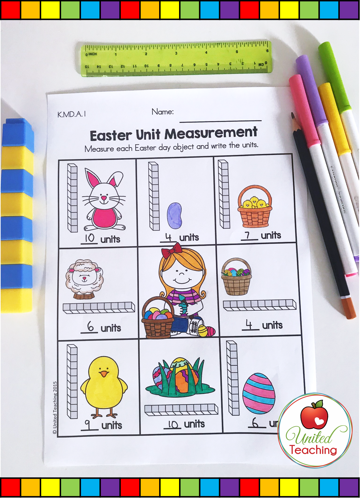 Easter Math Worksheets Kindergarten Distance Learning