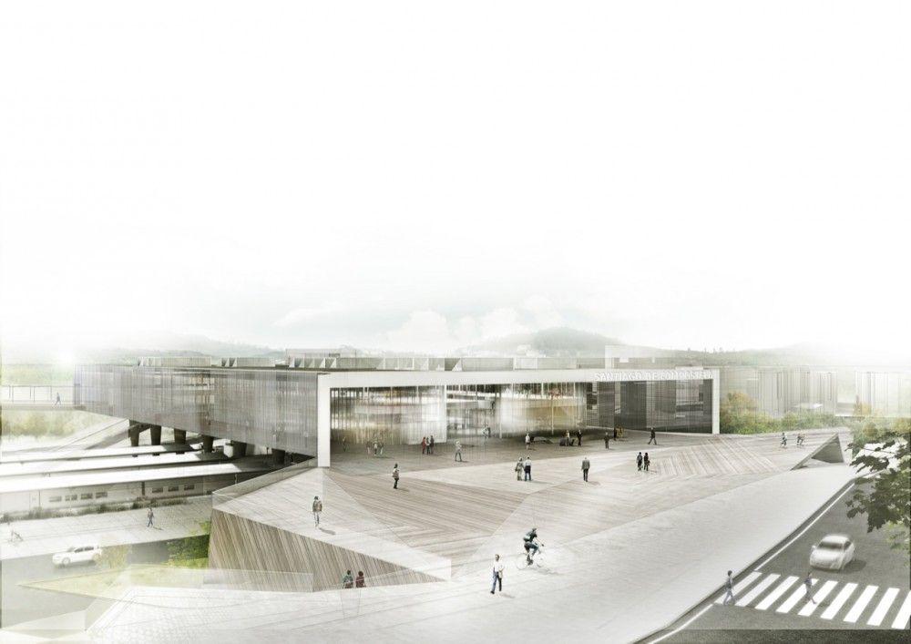 Galer a de nueva intermodal santiago de compostela herreros arquitectos 1 juan herreros - Arquitectos santiago de compostela ...