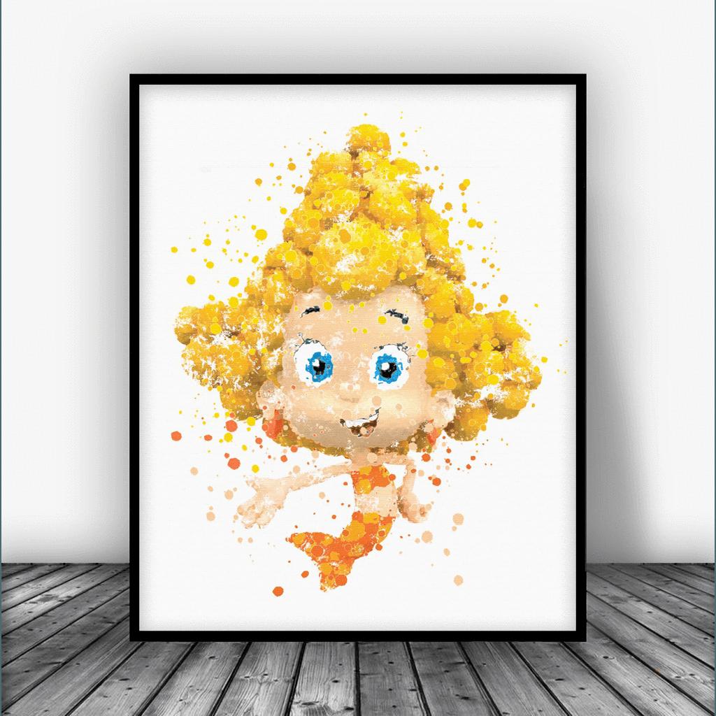 Bubble Guppies Deema Art Print Poster In 2020 Posters Art Prints Art Prints Card Art