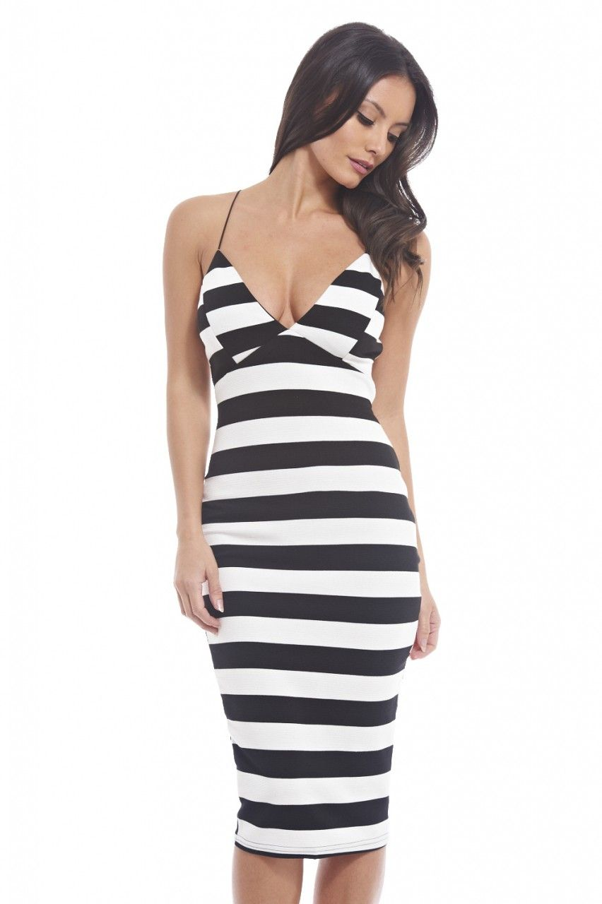 Striped plunge dress women fashion idea pinterest plunge dress