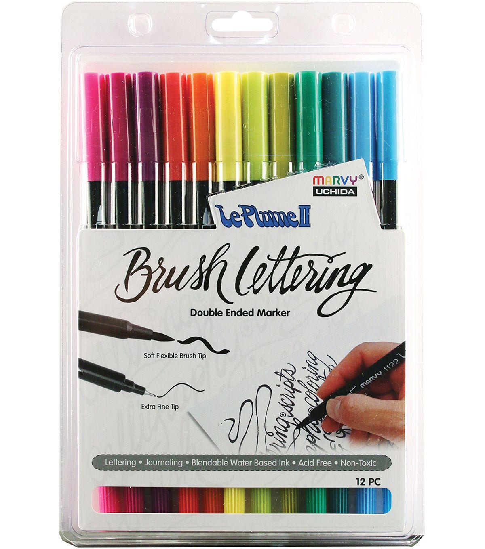 Uchida Marvy Extra Fine Tip Le Plume II Double Ender Marker Pen
