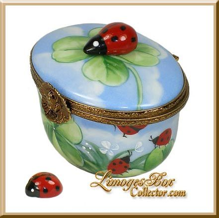 Limoges Boxes Imported From France Coccinella Porcellana Ceramica