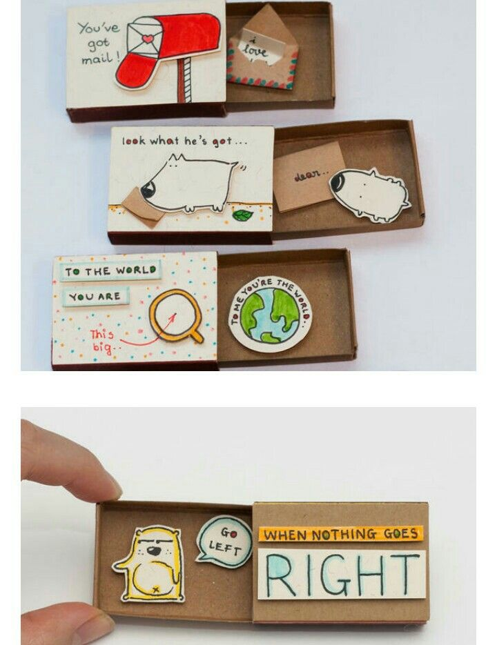 Pin By Mischief Mice On For Him Matchbox Crafts Valentines Diy Birthday Cards Diy