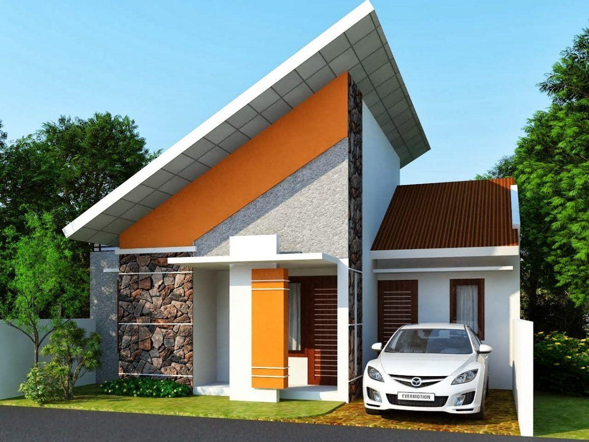 Desain Model Atap Rumah Miring Kedepan