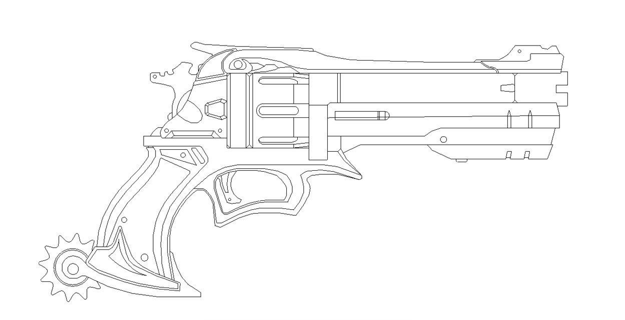 Overwatch mccrees gun blueprint for prop by netherpirate pew pew overwatch mccrees gun blueprint for prop by netherpirate malvernweather Gallery