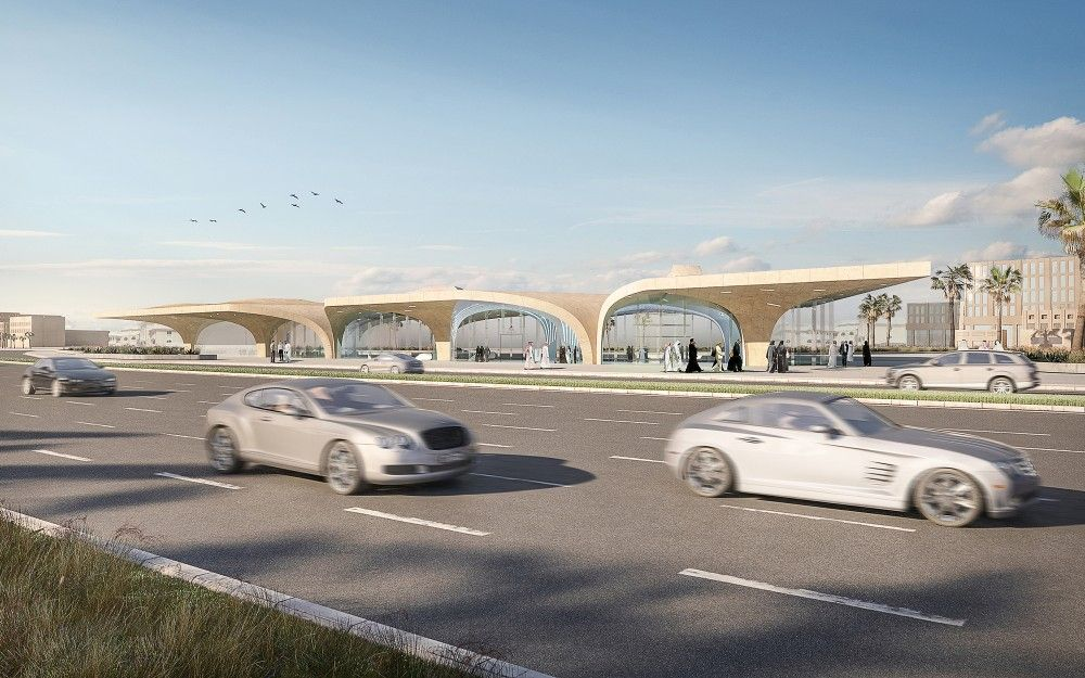 gallery of unstudio appointed to create identity for qatar s new metro network 2 metro qatar architecture pinterest