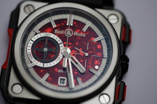 Bell & Ross BR-X1 Hypersonic Chronograph Red Boutique Edition.More Red here.